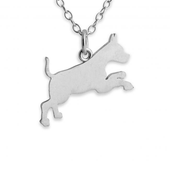 925 sterling silver necklace Boxer (Silhouette)