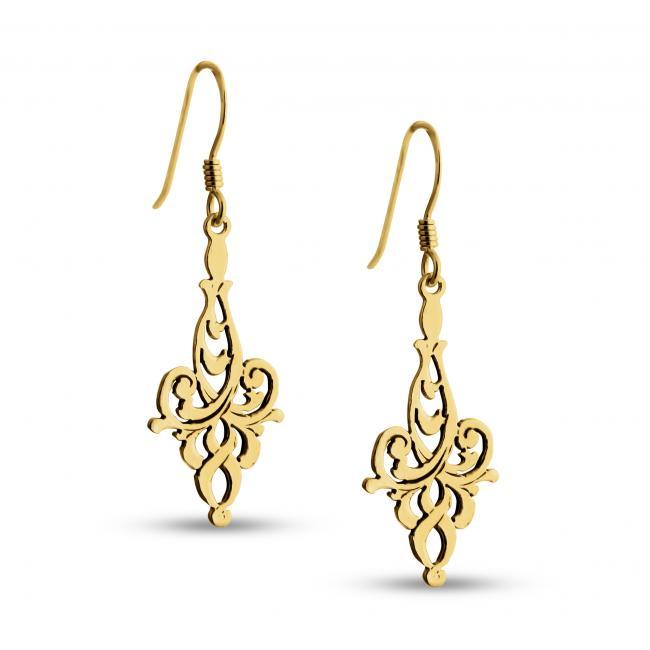 Gold plated earrings Leaf