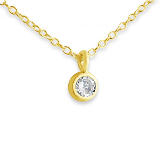 Gold plated necklace Cubic Zirconia