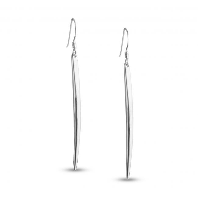 925 sterling silver earrings Long Spike Hook