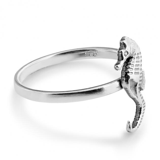925 sterling silver ring Seahorse