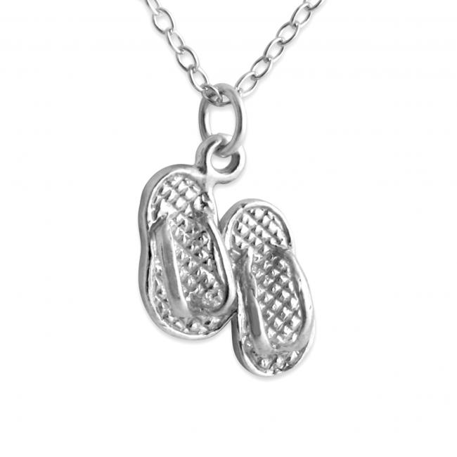 925 sterling silver necklace Tiny Slippers