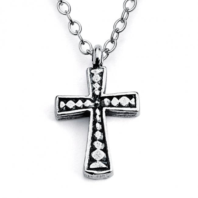 925 sterling silver necklace Holy Cross Religious Double Sided