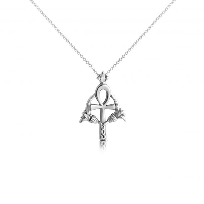925 sterling silver necklace Ankh