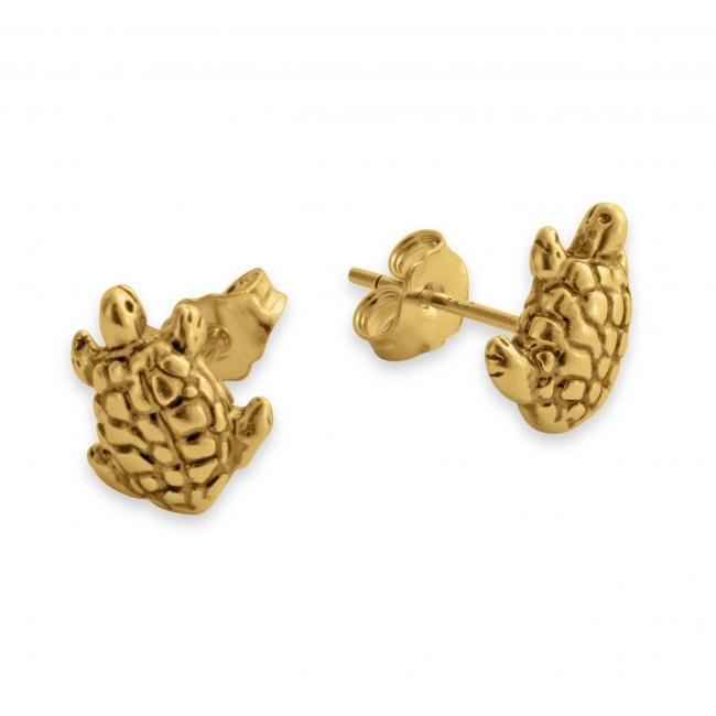 Gold plated earrings Tiny Cute Tortoise/ Turtle