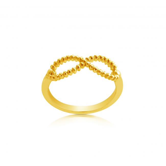 Gold plated ring Infinity