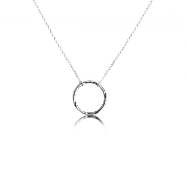 925 sterling silver necklace Large Karma Ring
