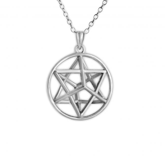 925 sterling silver necklace 3D Star of David