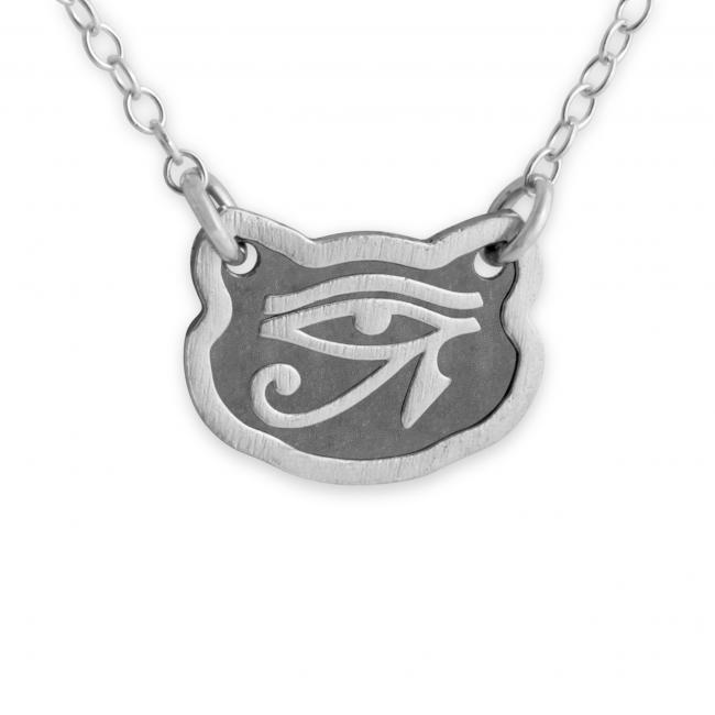 925 sterling silver necklace Feline Eye of Horus