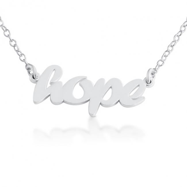 925 sterling silver necklace HOPE (Script Word)