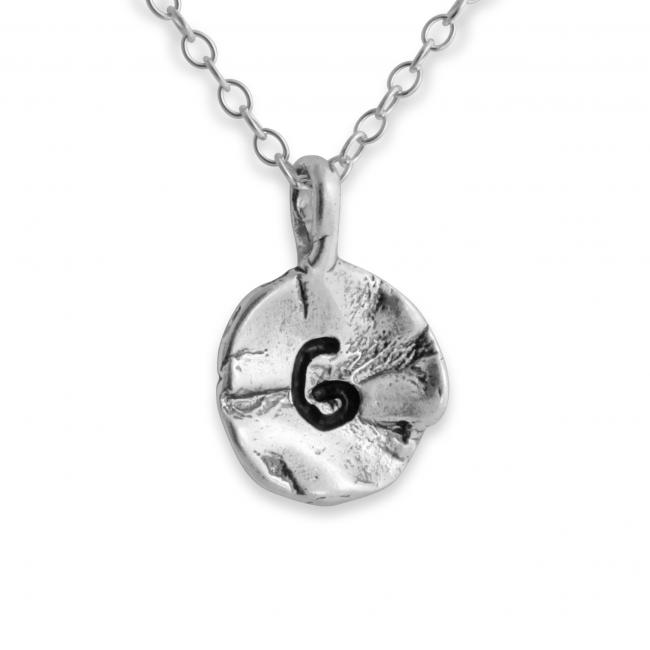 925 sterling silver necklace Letter G Passion Initial