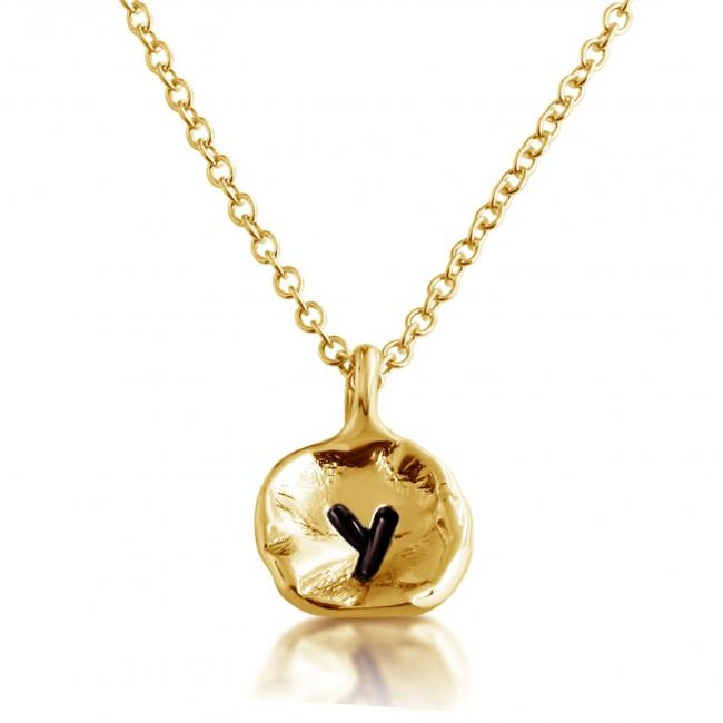Gold plated necklace Letter Y Passion Initial