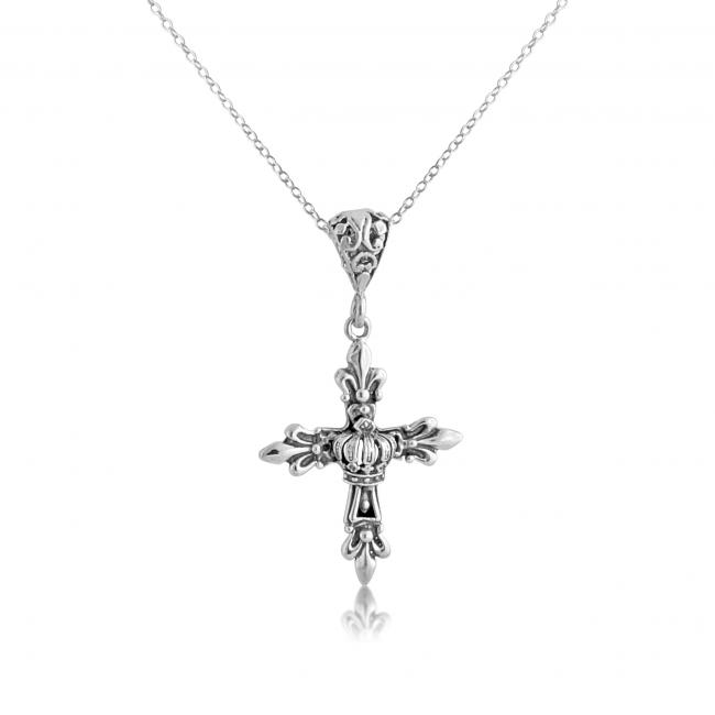 925 sterling silver necklace Royal Budded Cross