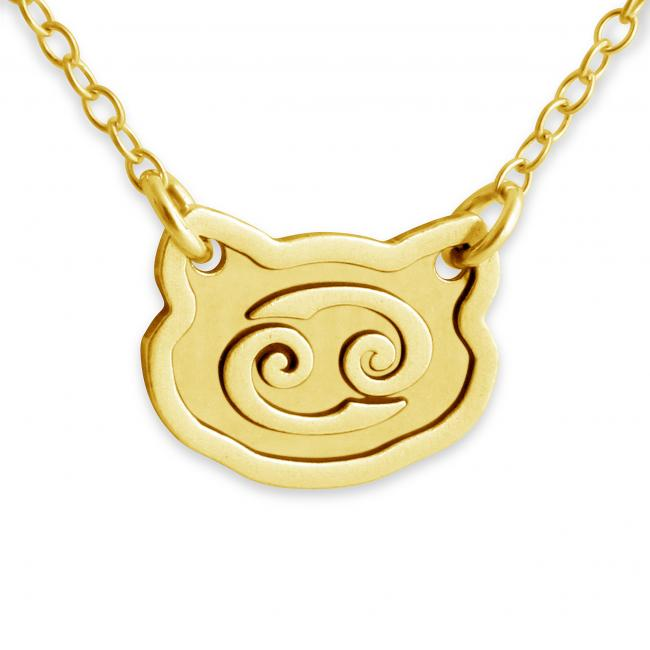 Gold plated necklace Cancer Zodiac Sign