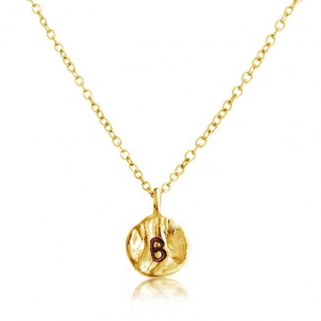 Gold plated necklace Letter B Passion Initial