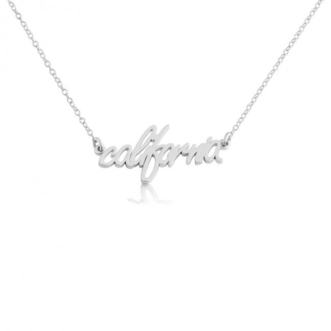 925 sterling silver necklace California State