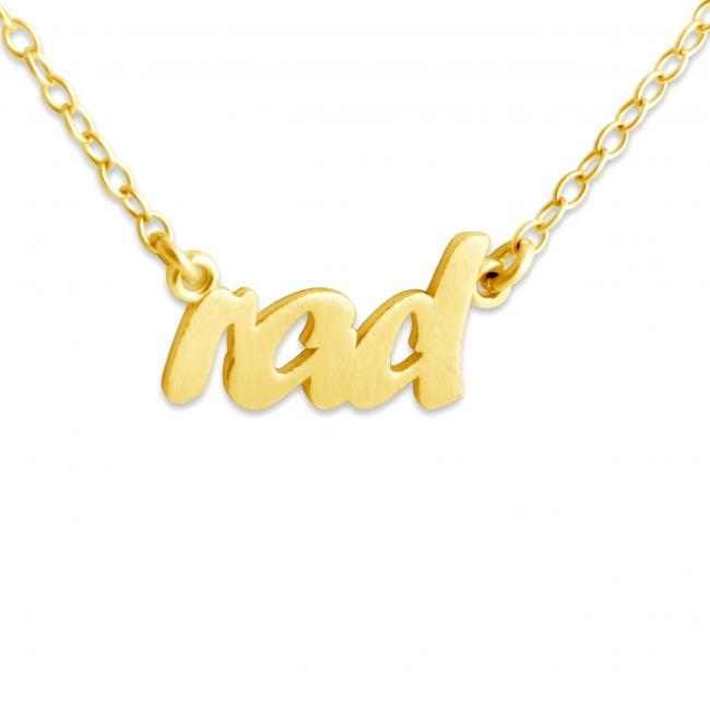 Gold plated necklace RAD (Script Word)