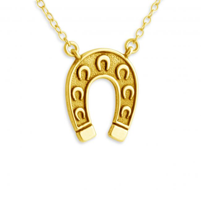 Gold plated necklace 2-Toned Horseshoe