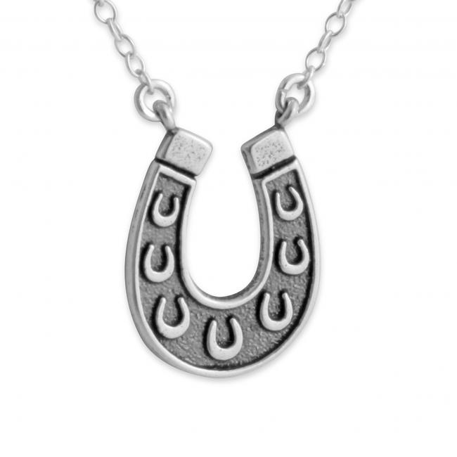 925 sterling silver necklace 2-Tone Horseshoe