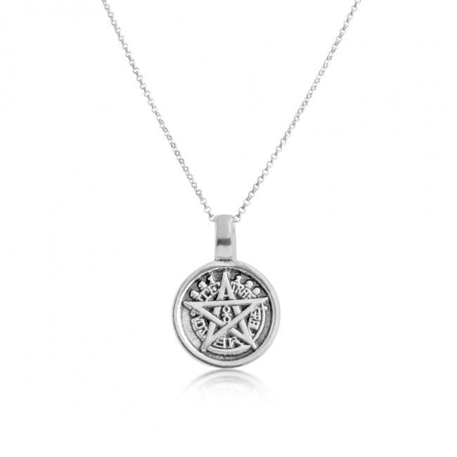 925 sterling silver necklace Pentagram 5-Sided Star Amulet