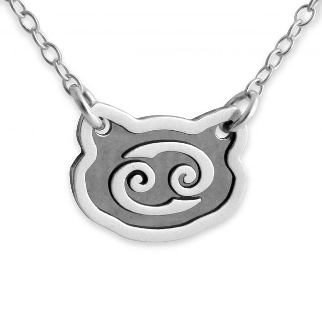 925 sterling silver necklace Cancer Zodiac Sign
