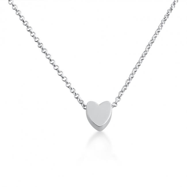 925 sterling silver necklace Initial Letter Heart Personalized Symbols & Letters Serif Font