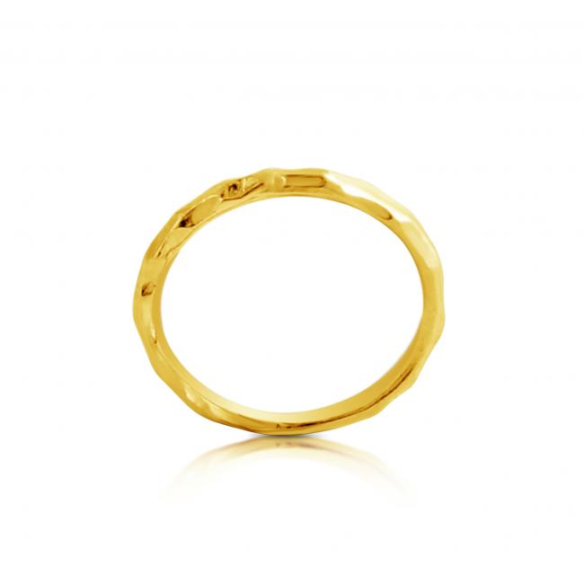 Gold plated ring Hammered Ring