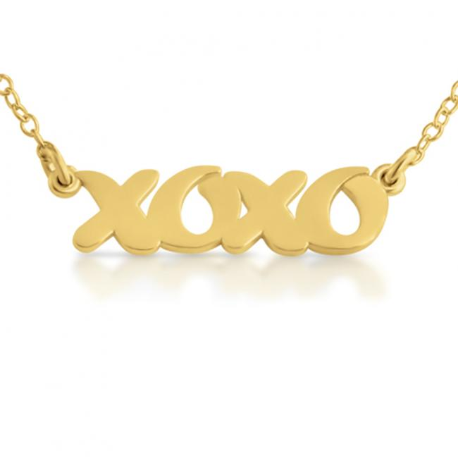 Gold plated necklace XOXO (Script Word)