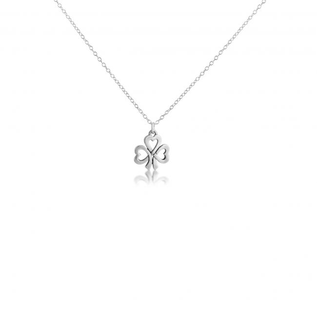 925 sterling silver necklace Hearts of Shamrock Irish Lucky Clover