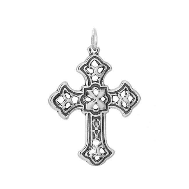 925 sterling silver necklace Budded Apostles Cross Religious