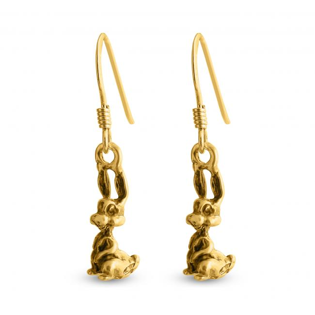Gold plated earrings Bunny Rabbit