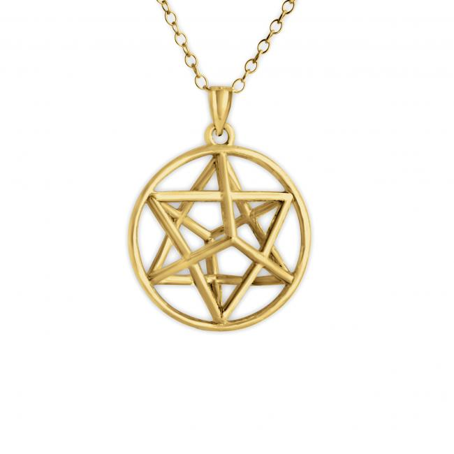Gold plated necklace 3D Star of David