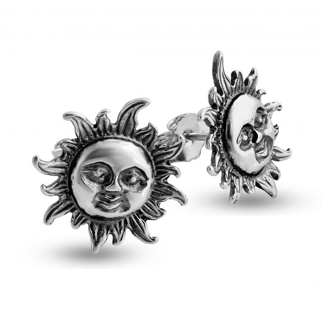 925 sterling silver earrings Smiling Sun Flare