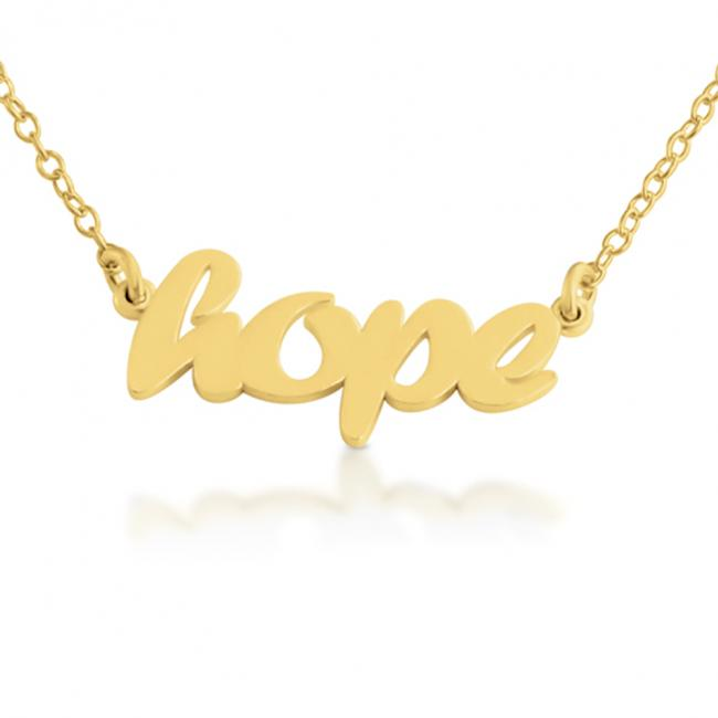 Gold plated necklace HOPE (Script Word)
