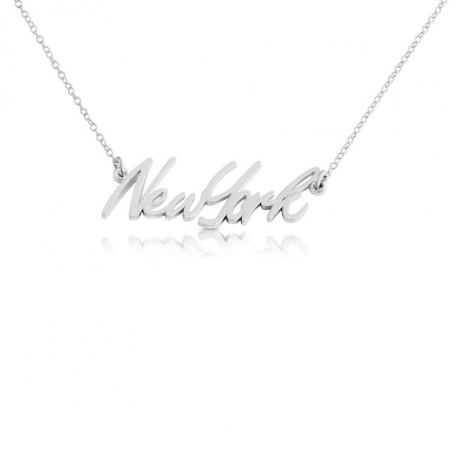 925 sterling silver necklace New York State