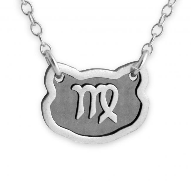 925 sterling silver necklace Virgo Zodiac Sign