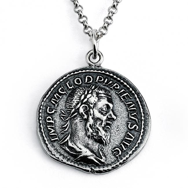 925 sterling silver necklace Replica Pupienus Roman Emperor Ancient COIN