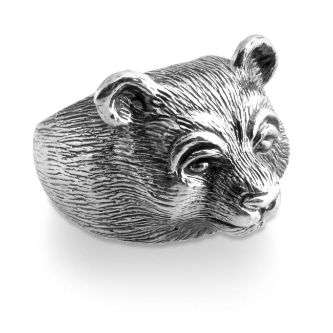 925 sterling silver ring Bear