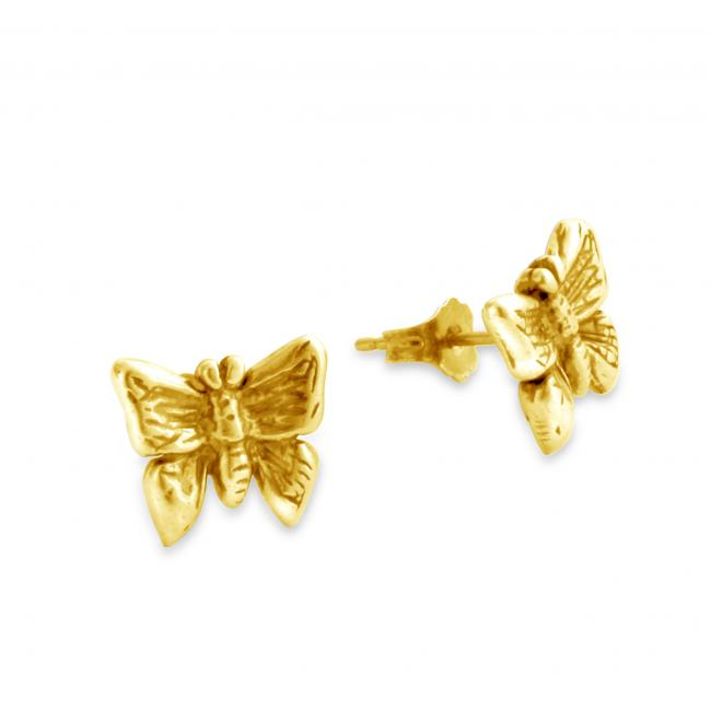 Gold plated earrings Butterfly