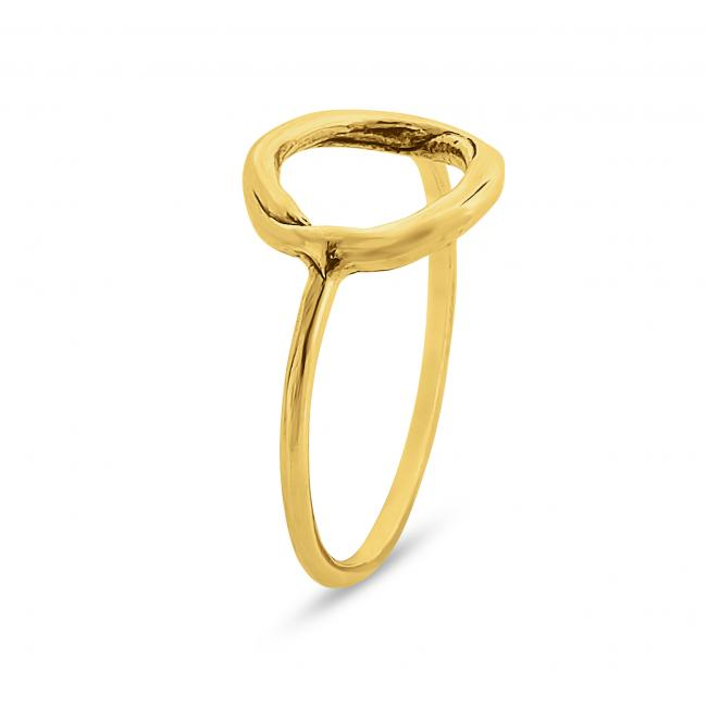 Gold plated ring Medium Karma Ring