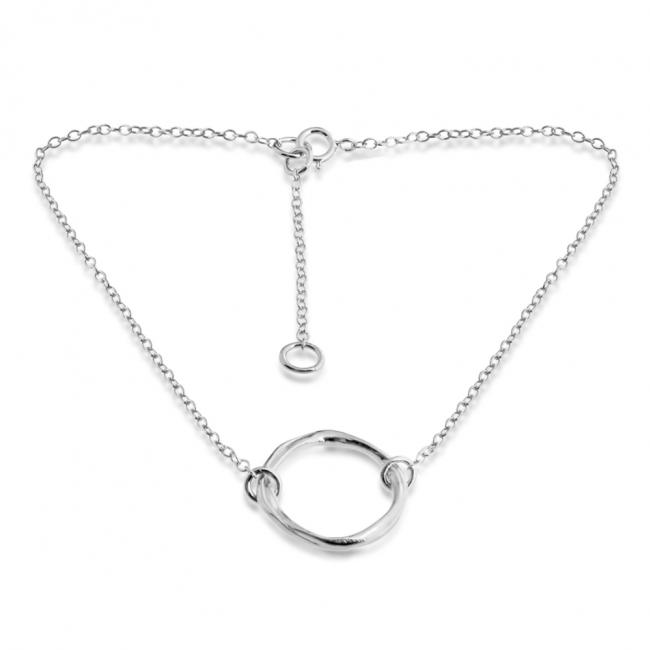 925 sterling silver anklet Karma Ring