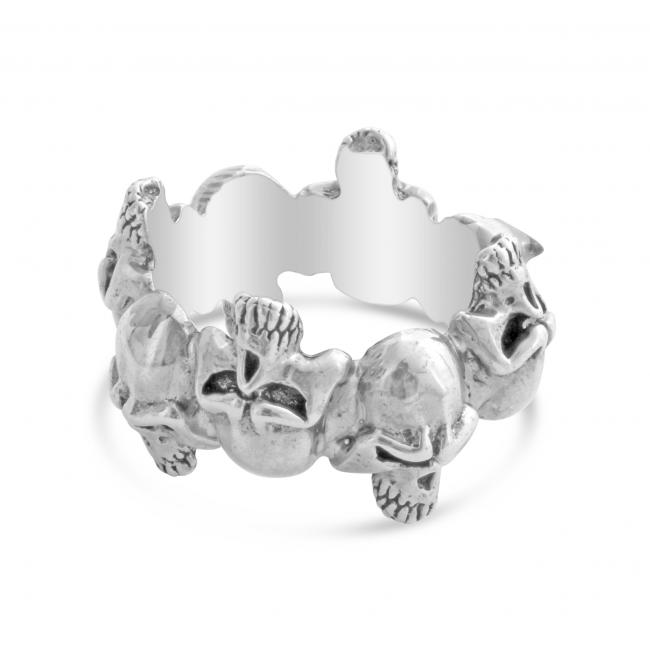 925 sterling silver ring Skulls - size 10, 11 only
