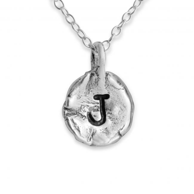 925 sterling silver necklace Letter J Passion Initial