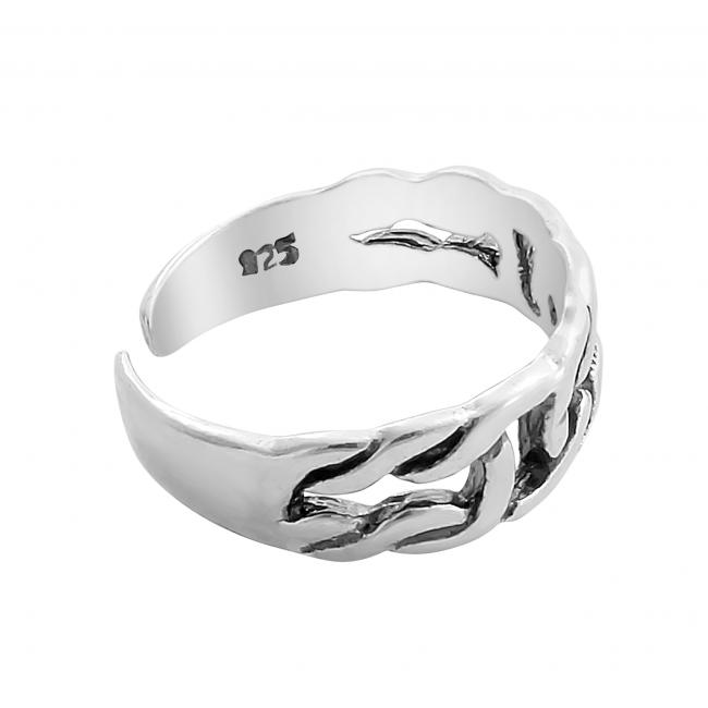 925 sterling silver ring Chain Linked Adjustable Toe Ring