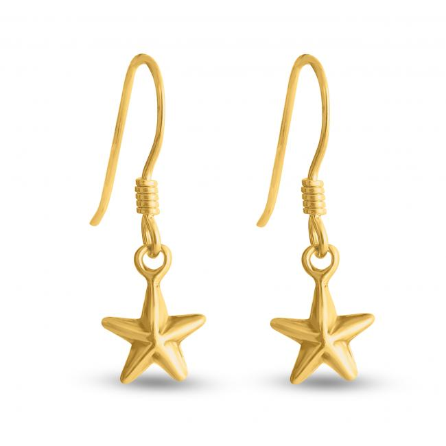 Gold plated earrings Nautical Star