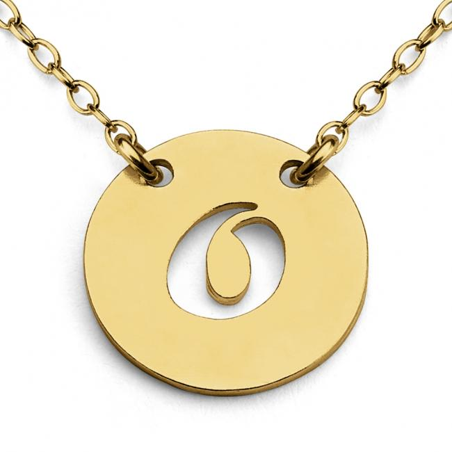 Gold plated necklace O Open Letter