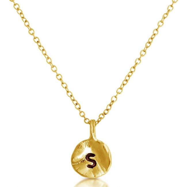 Gold plated necklace Letter S Passion Initial