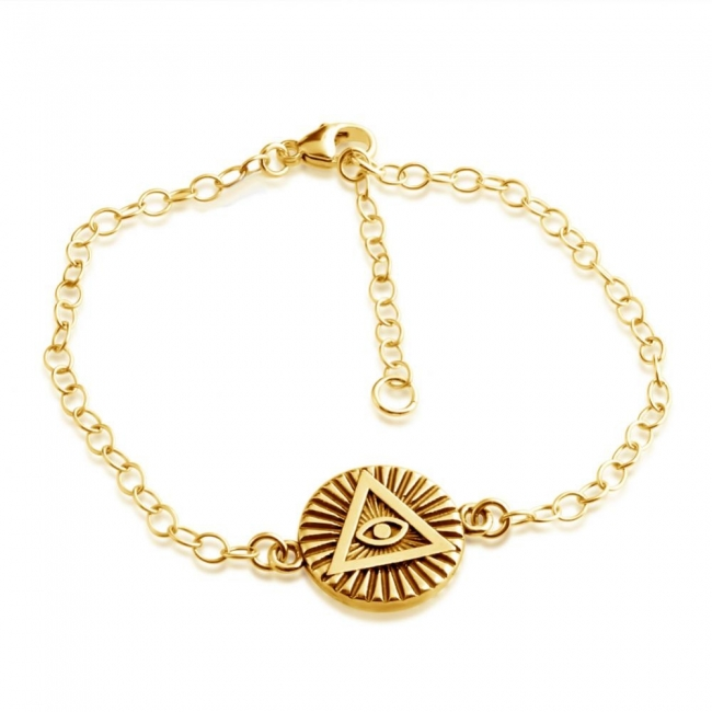 Gold plated bracelet Illuminati Circle