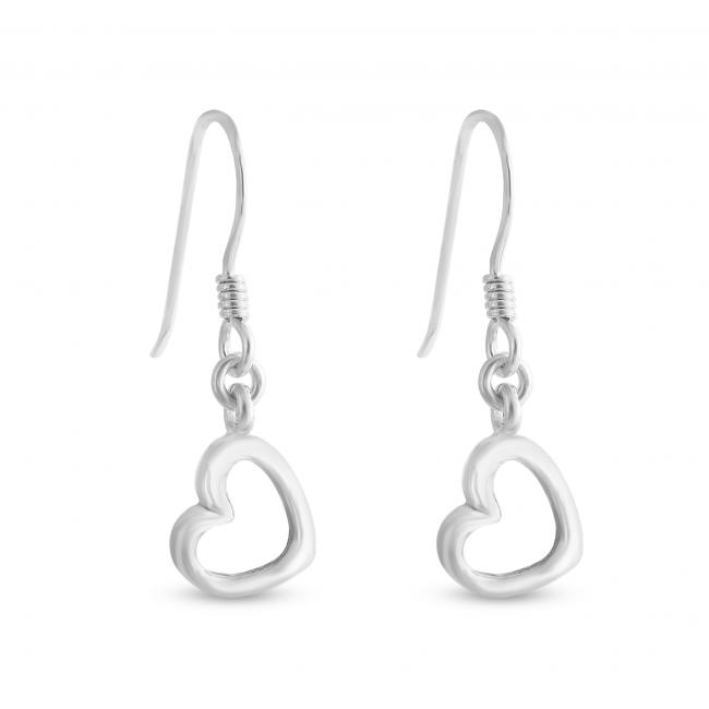 925 sterling silver earrings Hanging Hearts