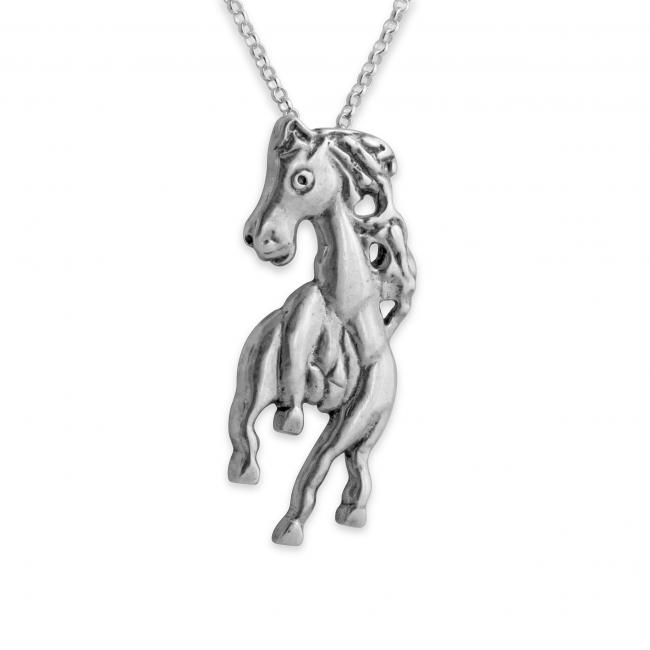 925 sterling silver necklace Horse Galloping Forward